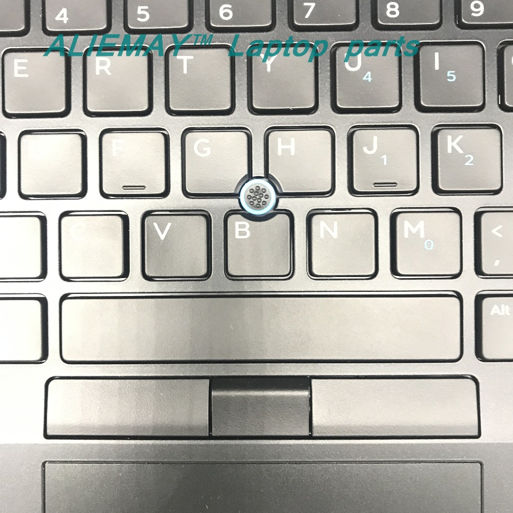 Купить с кэшбэком brand new original laptop parts for DELL LATITUDE E7480 7480 Backlit  Trackpoint US keyboard palmrest with touchpad