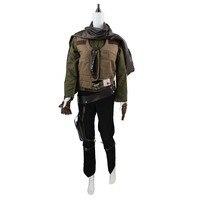 Rogue One A Star Wars Jyn Erso Косплей Костюм сержант форма пальто жилет кобура рубашка брюки перчатки на заказ