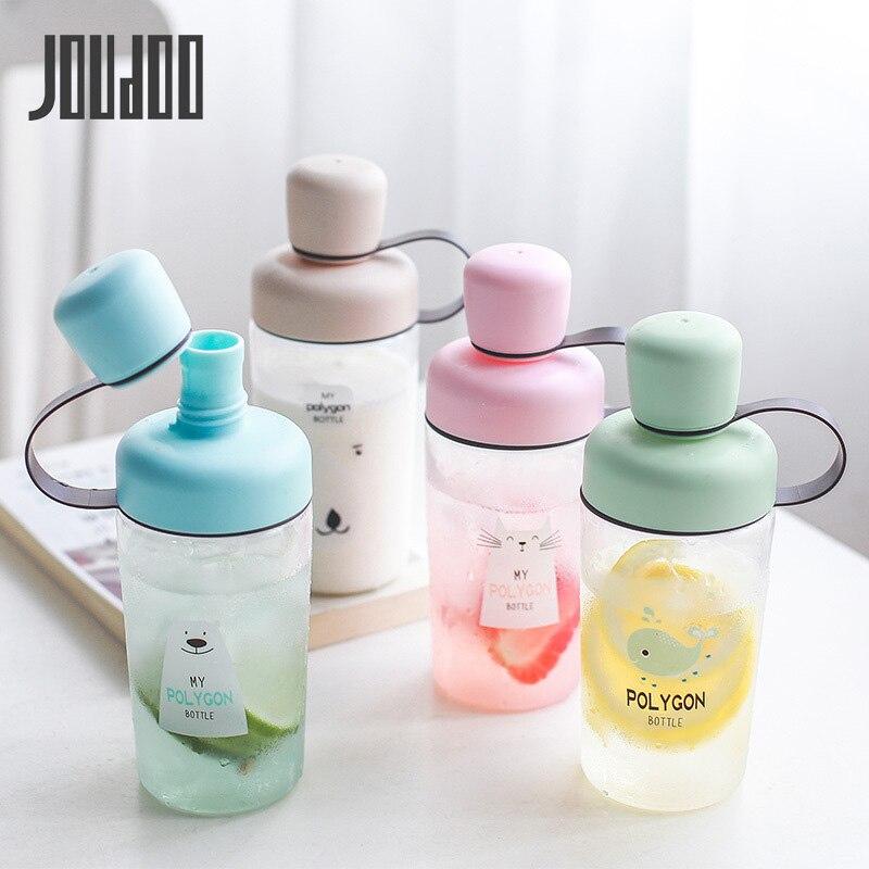 JOUDOO 400ml Portable Cartoon Plastic Water Bottle for Kids Sport Drinking Tea Infuser Tumbler 35