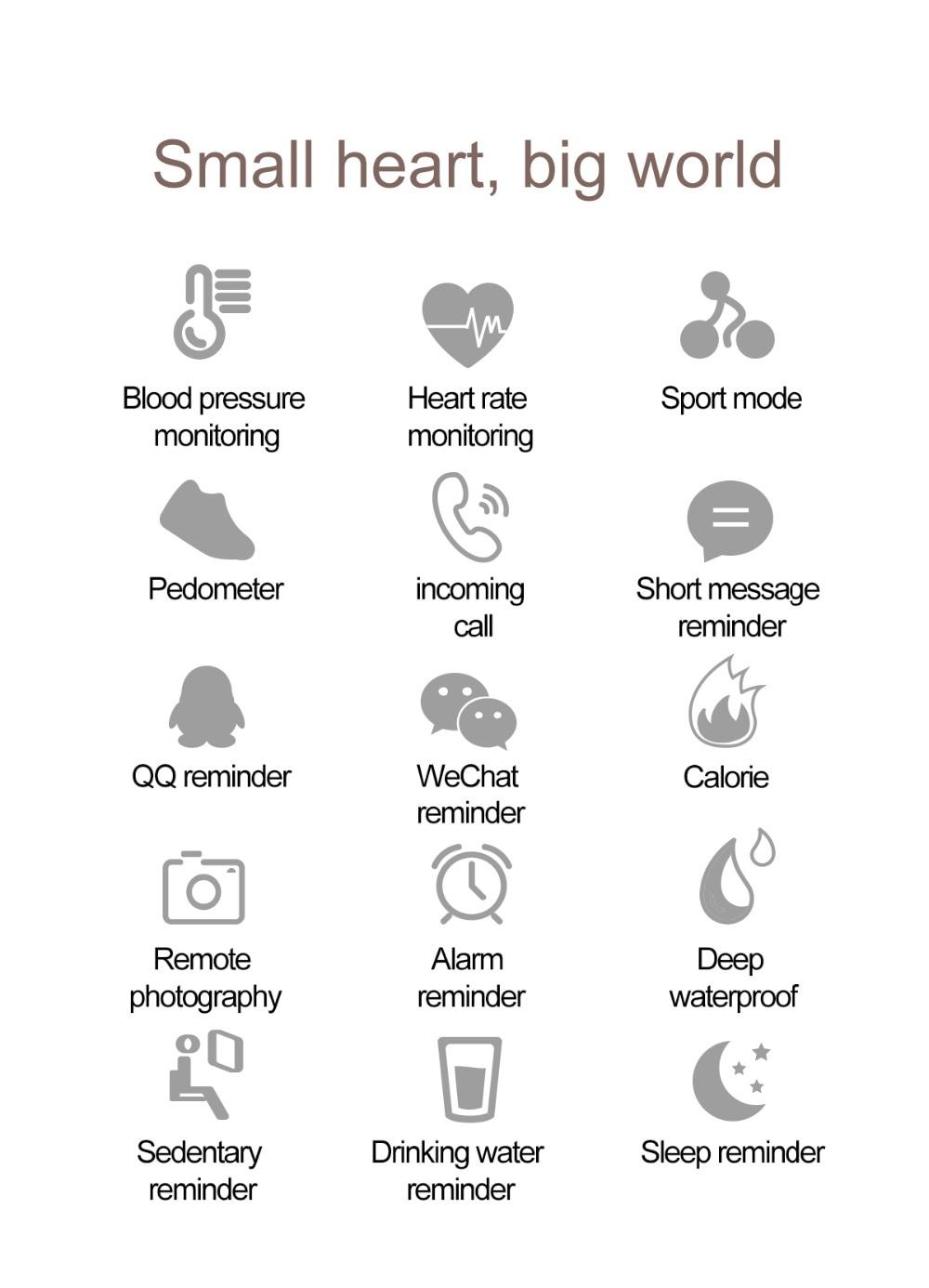HTB1jCHwdQ5E3KVjSZFCq6zuzXXa4 QW16 Waterproof Smart Bracelet Smart Band IP67 Heart Rate Fitness Tracker Blood Pressure smart watch