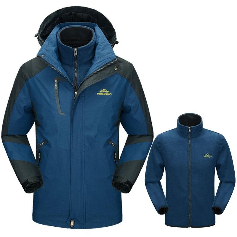 De Inverno de Espessura dos homens 5XL Jaquetas Softshell Ao Ar Livre  Masculino Dentro Fleece Jaqueta 09265ced2a3ce