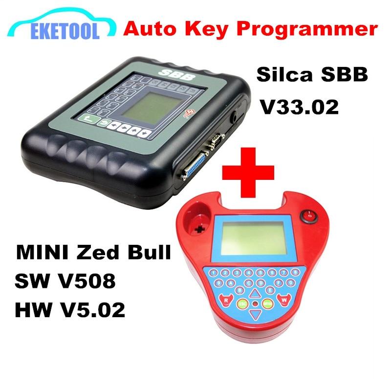 Цена за Лучшее соответствие Auto Key Программист Silca SBB V33.08 и Smart Mini Zed Bull для программирования ключ работает мультибрендовый автомобили OBDII транспондера