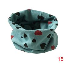 2018 Lovely Baby Kids Children O-neck Scarf Cute Girl Boy Ring Collar Scraf with Printed Heart and Anchors(China)