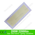 Full wattage 200W 22000lm 260x130mm led light source for floodlight, Warm white/ Cold white led PCB board, LED lamps chip bead