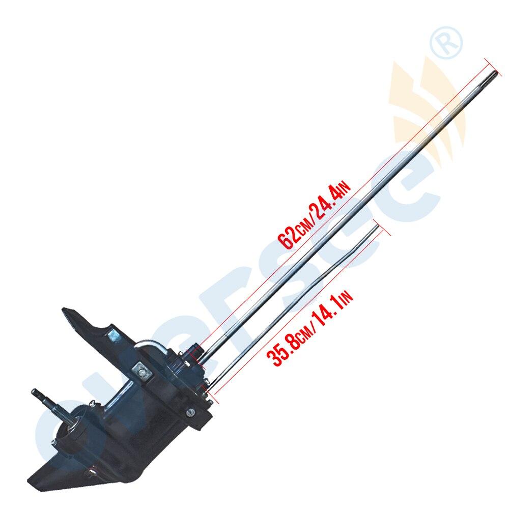 Boîtier inférieur hors-bord Assy (L) pour moteur hors-bord Hangkai 5HP 6HP 2 temps longue boîte de vitesses d'arbre de conducteur Assy 8 T