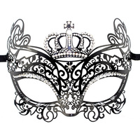 Imperial Crown Metal VeniceMasks Classic Party Mask Masquerade Masks Halloween Decoration SD245