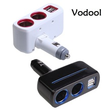 VODOOL Cigarette Lighter Dual USB Car Charger Splitter cigarette lighter 5V2.1A 1A car charger cigarette lighter socket splitter