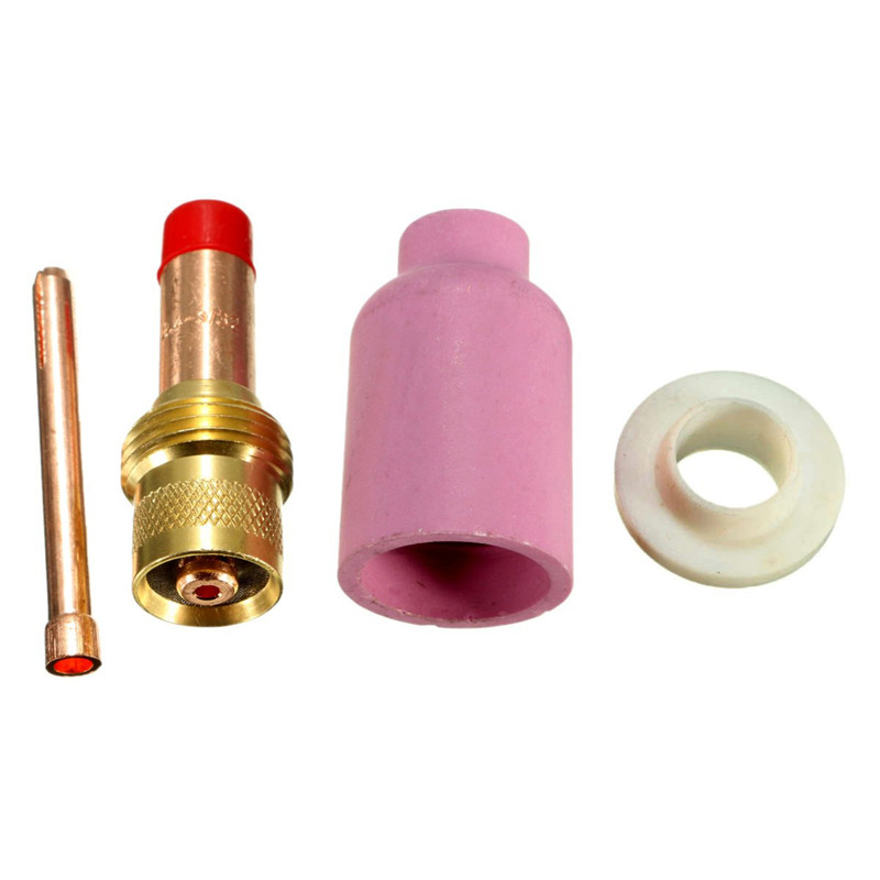4Pcs TIG Gas Lens KIT Size 3/32