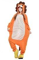חום האריה פיג 'מה סרבלי הקריקטורה בעלי החיים קוספליי למבוגרים ליל כל הקדושים תלבושות בגד גוף הלבשת חורף אביב סתיו מקשה אחת