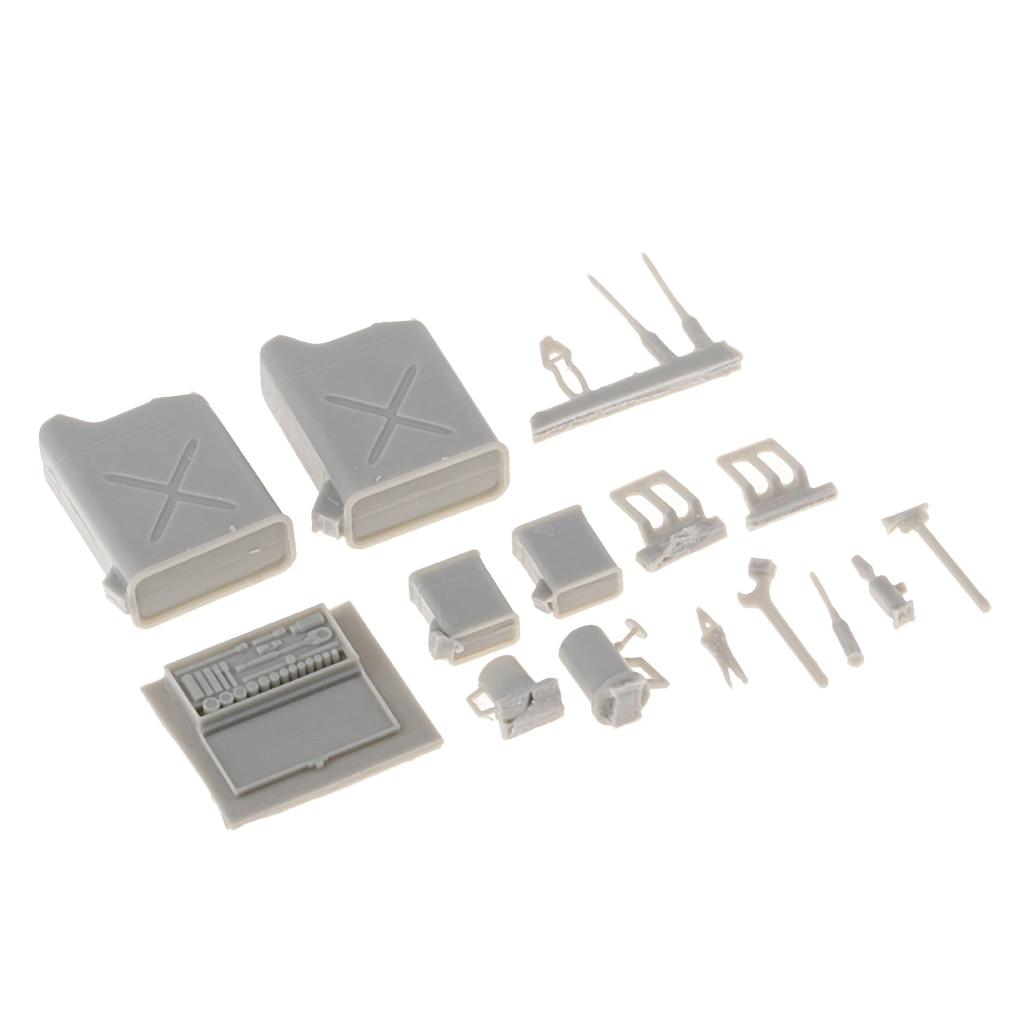 MagiDeal 1:25 Scale Mini Tank Repair Tool Box Model Toy For Sand Table Scene Diorama Scenery Decors