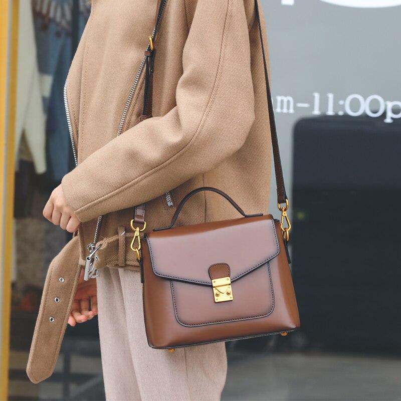 Sac à main d'été pour femmes à la main en cuir véritable épaule femme sacs enveloppe Messenger sac peau de vache sacs à main de bureau