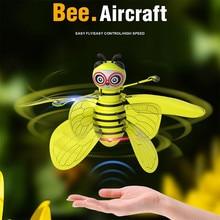 Радиоуправляемый Мини Инфракрасный датчик пчела Летающий индукционный Миньон беспилотный Аккумулятор 3,7 в Летающий мигающий светильник летающий самолет детские игрушки Jly3