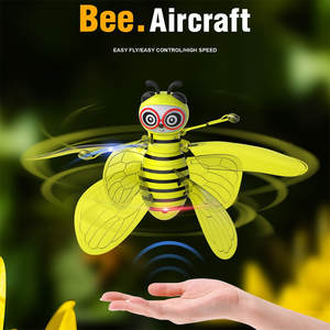 Kids Toys Infraed-Sensor Minion Bee-Flying RC Light Drone-Battery Aircraft Flashing Induction