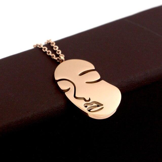 Модное украшение характерное ожерелье из розового золота с индивидуальным
