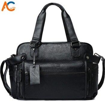 ألينا Culian جلد الرجال السفر حقيبة شعبية تصميم حقيبة ظهر قطنية عالية الجودة الأمتعة حقيبة يد كبيرة قدرة السفر حقائب كتف