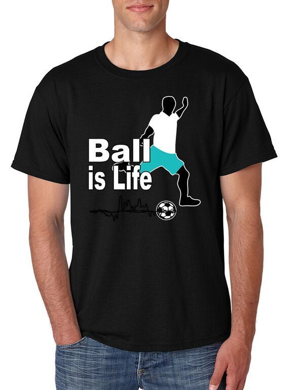 Soccered Ball Is Life Mens Tee Shirt Soccered Shirt Sported Shirt Cool Tee T Shirt Men Short Sleeve Funny