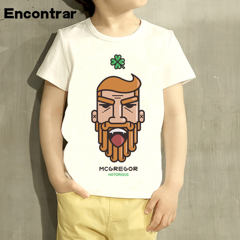 Beautiful Kids Conor Mcgregor Design T Shirt Boys/girls Great Casual Short Sleeve Tops Children Cute T-shirt,hkp2101 To Make One Feel At Ease And Energetic
