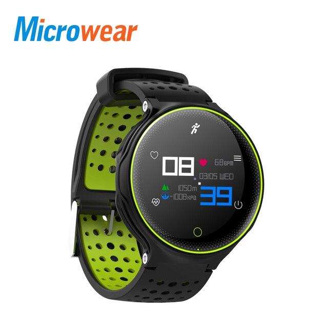Microwear X2+ Smart Bracelet Waterproof IP68 Blood Pressure Oxygen Heart Rate Monitor Wristband Fitness Track Color Screen