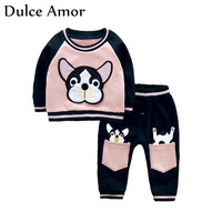 Dulce Amor Autumn Winter Children Clothes Set Kids Sports Suits Baby Boy Girl Clothes Cotton Warm