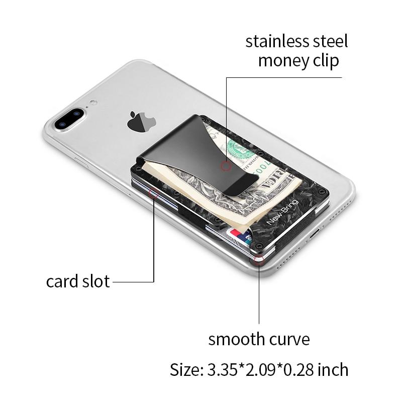 Image 2 - NewBring Slim Abstract Texture Carbon Fiber Card Holder Credit Card ID RFID Blocking Wallet Front Pocket Gift EDC MinimalistCard & ID Holders   -