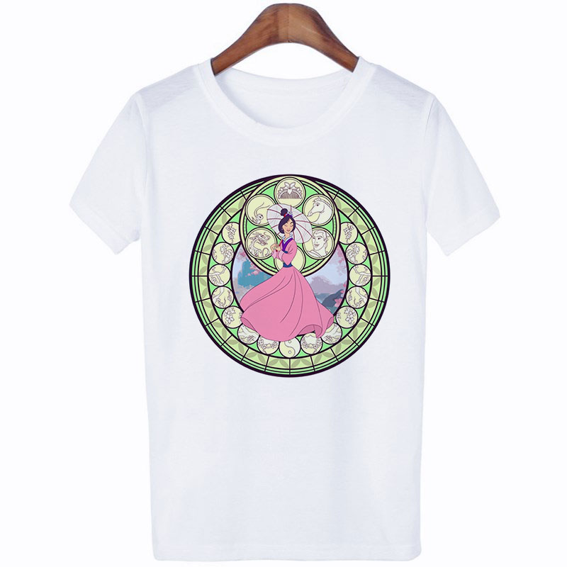 2019 New Thin Section Summer Shirt Cartoon Princess T Shirt Funny Aesthetic New Streetwear Tshirt Women Clothes in T Shirts from Women 39 s Clothing
