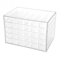 120 Grids Transparent Nail Art Decoration Storage Box Rhinestones Beads Accessories Display Container Case Manicure Tool