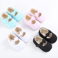 2017 Infant Toddler Baby Girls Fashion Shoes Princess Prewalkers Heart-shape Wedding Party Bling Bow Shoes Newborn Footwear