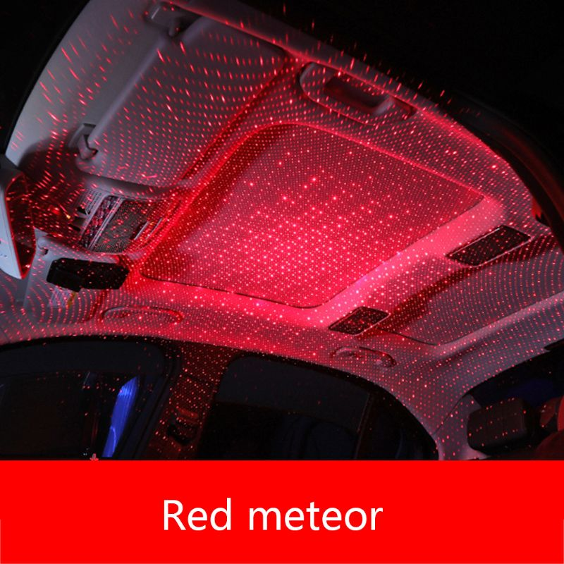 Car USB LED Car Atmosphere Ambient Star Light DJ RGB Colorful Music Sound Lamp Christmas Interior Decorative Light image
