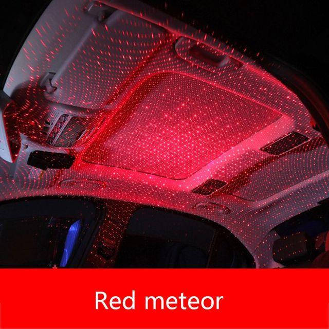 سيارة USB LED سيارة الغلاف الجوي المحيط ستار ضوء DJ RGB الملونة الموسيقى الصوت مصباح عيد الميلاد ضوء الزخرفية الداخلية