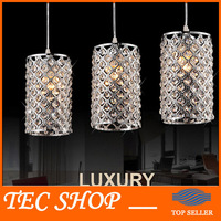JH Modern Crystal Pendant Light Home Lighting Living Room Single Head Lamp Restaurant Pendant Lamp Silver Corridor Crystal Lamp