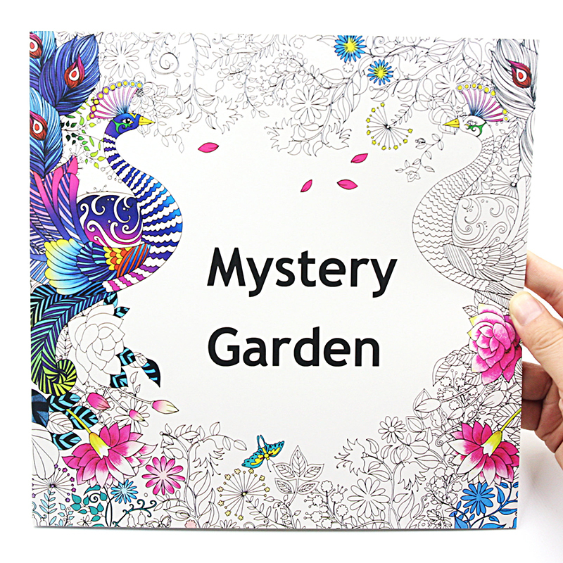 1 PCS New Creative 24 Pages 2525cm Coloring Books For Kids And Adults Painting Book Mystery Garden Secret