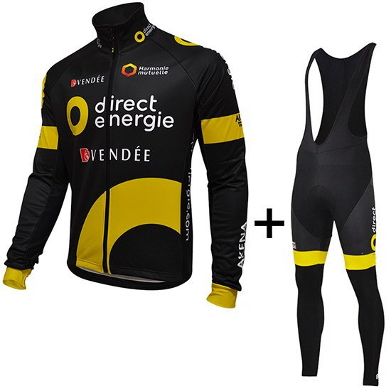 Spring Summer 2016 DIRECT ENERGIE PRO TEAM Men s Cycling Jersey Long Sleeve  Bicycle Clothing With Bib PANTS Ropa Ciclismo 664e64924