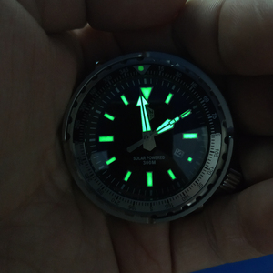 Image 3 - טונה SBDC035 אופנה שעון פוטודינמי אנרגיה קוורץ גברים שעון StainlessSteel צלילה שעון 300mWater עמיד שמש שעוני יד