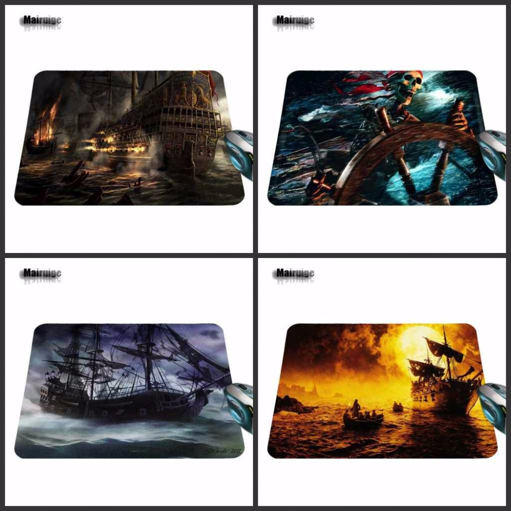 Captain Jack Black Ship 2017 Hot Sell Print Anti-slip Durable New Arrival Fashion Computer Gaming Mouse Pad Gamer Play Mats