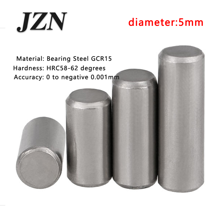 50pcs/lot Dia 5*5 6 7 <font><b>8</b></font> 10 <font><b>12</b></font> 14 15 16 18 20 22 24 25 <font><b>28</b></font> 30 Bearing Steel Cylindrical Pins - Dowel Pins-Needle-Positioning pin image