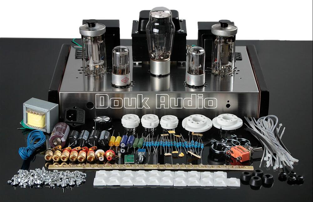 Douk audio FU50+6N8P Class A Single-ended Tube Audio Amplifier HiFi Valve Amp DIY Kit 13W*2 douk audio latest appj assembled fu32 single ended class a tube amplifier audio power amp board hifi diyer free shipping