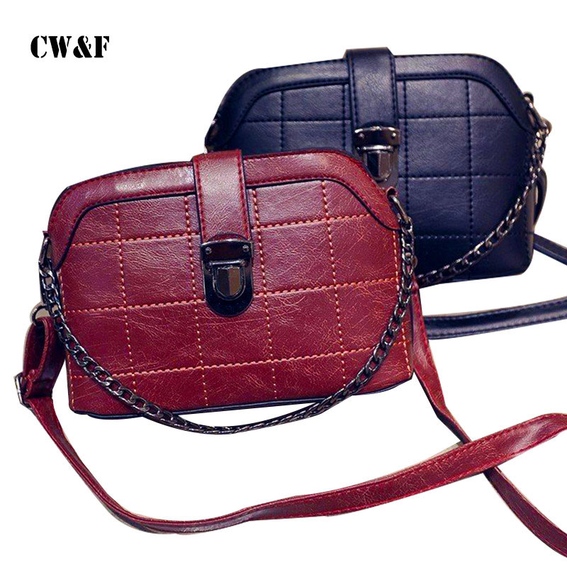 CW&F 2017 Women small new brand Crossbody bag female brief fashion vintage shell shoulder messenger handbag female purse pouch new arrival vintage women handbag genuine leather purse female small bag messenger crossbody bag hand painted women shoulder bag