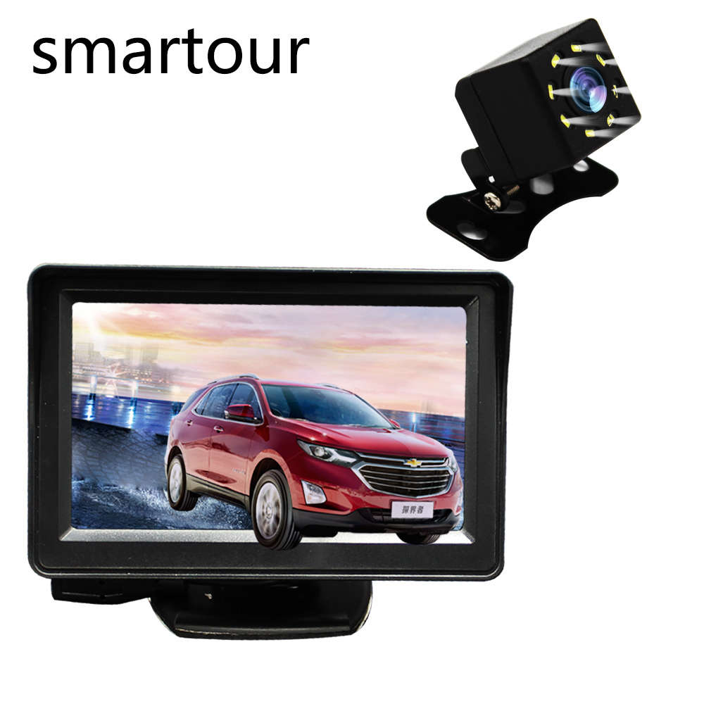 Smartour Car-Camera Universal Reversing Rear-View LCD HD Led-Light Image title=