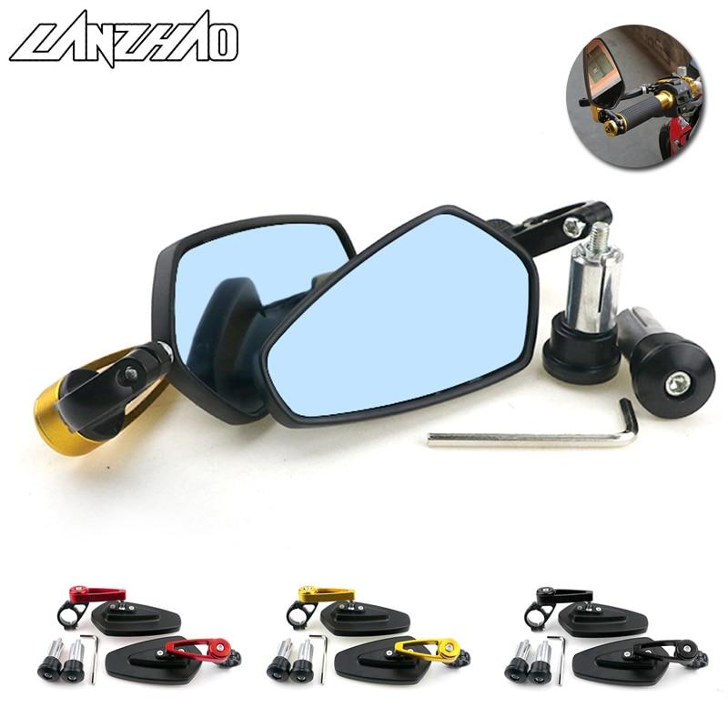 Espejos retrovisores de aluminio CNC para Yamaha para Kawasaki para Ducati espejos de motocicleta Espejos laterales de 22 mm
