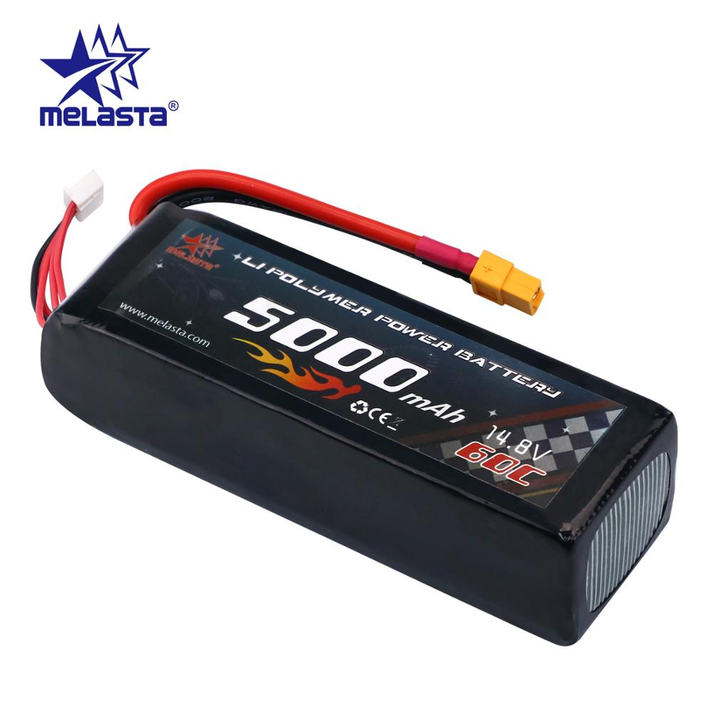 Melasta 14.8V 5000mAh 60C 4S Lipo RC Battery lithium ion batteries with XT60 Plug Connector lipo Battery(China)