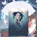 2016 New Printed Spirited Away T Shirts ogino chihiro Men women Tops Short Sleeve Miyazaki Hayao t-shirt Cartoon Shirt tees