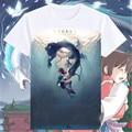 2016 Novos Impressos Spirited Away Camisetas Homens ogino chihiro Miyazaki Hayao t-shirt Camisa Dos Desenhos Animados t das mulheres Tops de Manga Curta