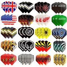 Fox Smiling 60/48/30/12pcs 2D Cool Standard Dart Flights Nice Darts Flight Outdoor Wing Tail Mixed Pattern(China)