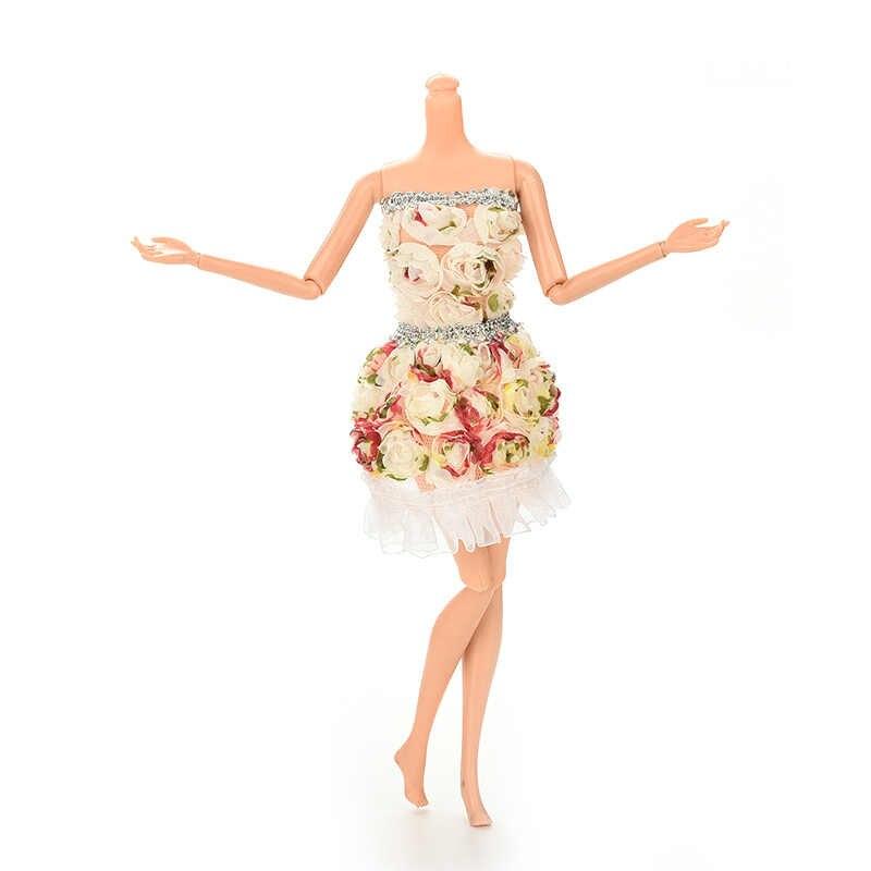 1 шт. креативный подарок ручной работы цветок Печать Кукла платье обтягивающее платье для куклы Одежда для кукол для