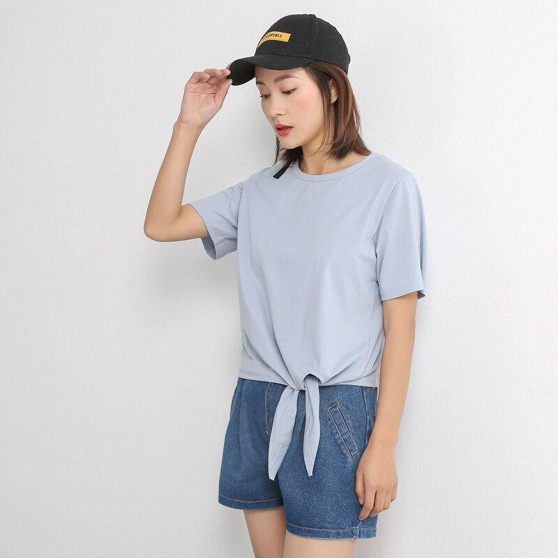 2018 mujeres camiseta, señora Top manga corta Top MT136