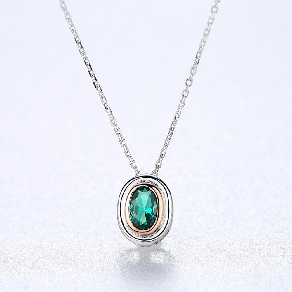 Женское Ожерелье-подвеска CZCITY, из серебра 925 пробы с овальным дизайном