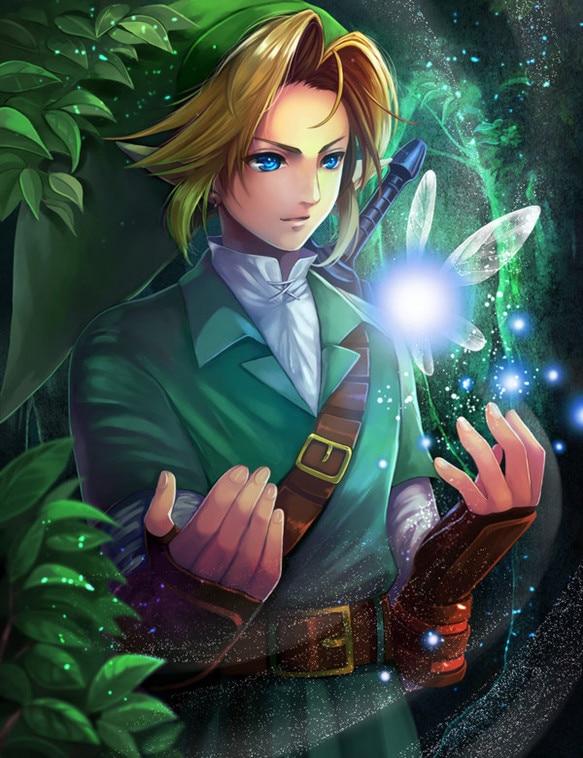 Diamante pintura Cartoon la leyenda de Zelda respiración de la naturaleza arte de la pared Picture landschap pared decoración