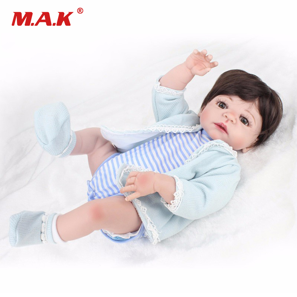 22 Inches 55 cm Full Body Silicone Baby Reborn Dolls Newborn Boy Babies Doll Bebe Toys for Children Gift pursue 22 57 cm bathe boy doll reborn full silicone vinyl body reborn babies dolls toys for children boy girl christmas gift