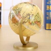 HD 2016 antique globe students birthday gift universal globe with retro bookcase study ornaments