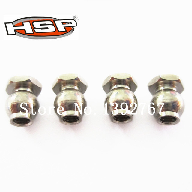 4Pcs HSP 1/8 RC Car Spare Parts Steering Link Ball 5.8mm 60038 For Model Off Road Nitro Power Buggy Truck NOKIER CAMPER Baja